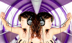 dj set (:::FLOW:::) Tags: girl book dj maria young paz trance juventud