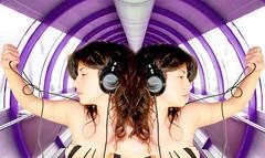 dj set (:::FLOW:::) Tags: girl book dj maria young paz trance juventud