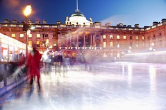 Ice Skating - Somerset House (Stephen D Harper) Tags: christmas xmas london ice movement lowlight iceskating icerink somersethouse skate statelyhome gradeilistedbuilding londoniceskating somersethouselondon iceskatingsomersethouset
