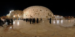 Western Wall - Kotel - Jerusalem, Old City - 360 (Sam Rohn - 360 Photography) Tags: travel panorama wall architecture night geotagged photography israel photo interesting nikon peace exterior d70 nikond70 availablelight jerusalem middleeast synagogue paz location panoramic photograph jewish pace judaism nikkor filmmaking stitched holyland filmproduction 360x180 oldcity qtvr scouting 360 paix westernwall 360x180 judiasm jewishquarter panography alquds kotel filmlocation locationscouting virtualtour locationscout equirectangular 105mmf28gfisheye filmlocations rohn filmscouting nylocations samrohn realvizstitcher geo:lat=31776756 locationscouts geo:lon=35234163 virtualjerusalem filmscout virtiualtour