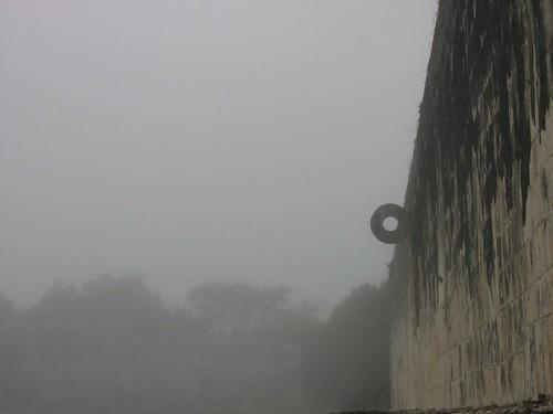 Hoop in mist