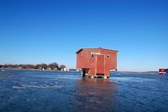 shanty (Jenny Peters) Tags: ice icefishing christmas2006 lakewaconia