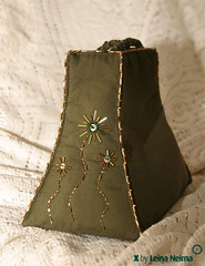 Evening Purse With a Golden Rose / Kuldse roosiga kott