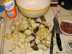 chopped spuds