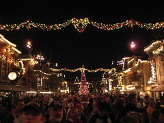 The crowd on Main Street waits for the fireworks. (12/14/06)