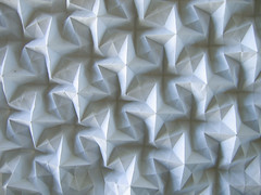 X-pentomino tile (polyscene) Tags: sculpture art paper origami cross bass low surface relief polly fold poly bas crease tesselation basrelief verity lowrelief bassrelief developable polyscene pollyverity developablesurface