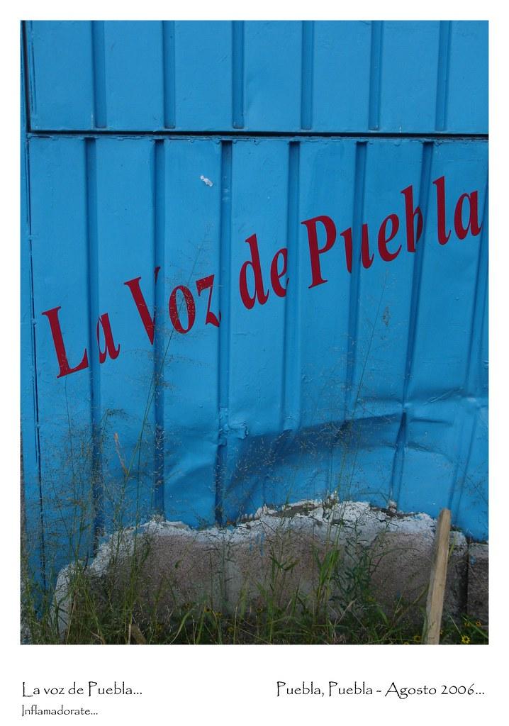 La voz de Puebla...