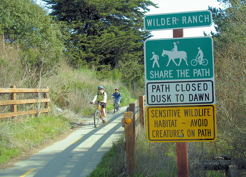 Wilder Ranch bike path