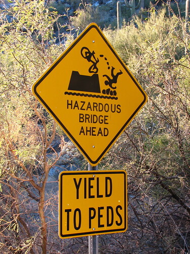 Hazardous Bridge Ahead