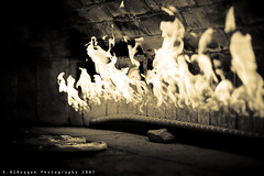 The Last Dance (Khalid AlHaqqan) Tags: sepia pie fire interestingness oven flames flame khalid kuwson aplusphoto
