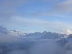 At Gondola, end of Day 2 (newformula) Tags: italy mountain snow clouds dusk dolomites campitello colrodella campitellodifassa trentinoaltoadige