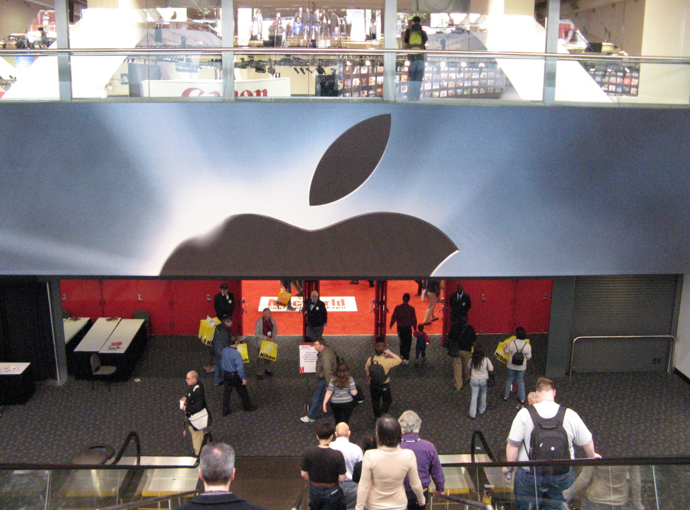 Down the Escalator into the MacWorld Show Floor