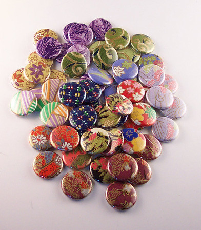 Buttons made from lovely paper