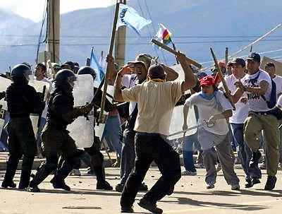 Bolivia peleas