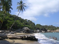 National Park Tayrona tropical beach Caribbean paradise Colombia photos travel images adventure wild nature