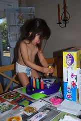 Olivia creating