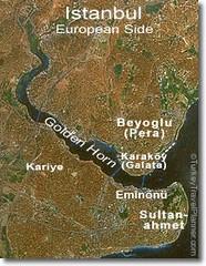 Peta Golden Horn, Istanbul, Turkey