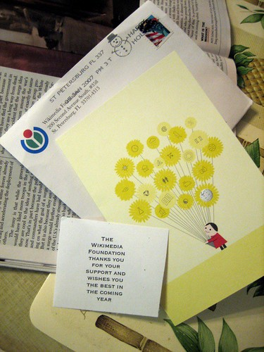 Wikimedia Foundation Thank You Card