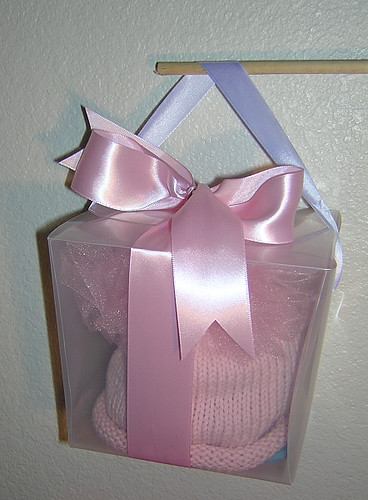 pink poof hat box
