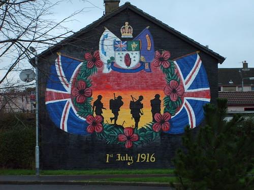 '1st July 1916'' mural, Kilcooley, Bangor