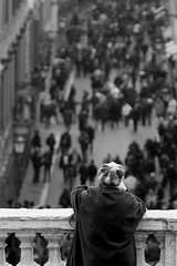 Spectator (Pensiero) Tags: life people blackandwhite bw woman rome roma portfolio spectator boundaries viacondotti confini selectedasthebest spselection utatafeature