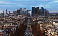 Paris – La Defense Skyline in December
