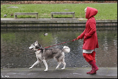 Little Red Riding Hood & The Big Bad Wolf (Edgar Thissen) Tags: red dog 20d girl fairytale canon rotterdam husky explore littleredridinghood bigbadwolf 13200 crooswijk pgphotography edgarthissen abigfave