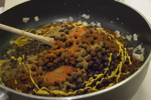 """Refried"" Black Beans"