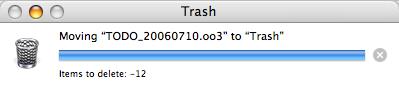 Items to delete: -12