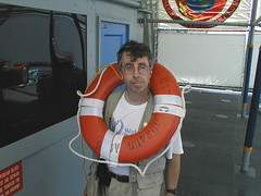 An Aid Worker in dire need for help. Peter on the USS Coronado during the RIMPAC2000 Humanitarian emergency simulation