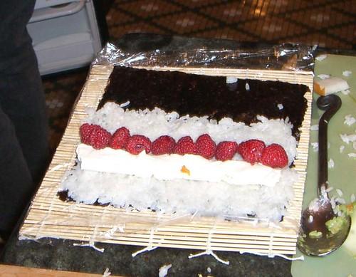 CIMG4905 Strawberries on sushi wrapper