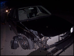 Lizzy Borden (sabarika) Tags: auto car accident police 1998 wreck semitruck insurance corolla tanker mangled carwreck mutilated