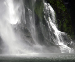 Milford Sound,Waterfall (!.Keesssss.!) Tags: newzealand motion nature horizontal closeup outdoors photography waterfall day nopeople milfordsound majestic scenics fallingwater gettyimages splashing royaltyfree beautyinnature theflickrcollection keessmans 0044ksgetty