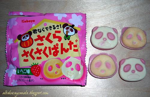 Saku saku panda cookies