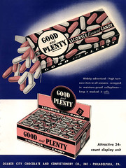 1949 Good & Plenty ad