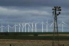 old windmill and wind turbines - explore (Marvin Bredel) Tags: oklahoma windmill power wind alternativeenergy explore marvin windturbine windfarm oldandnew weatherford interestingness356 i500 southwestoklahoma marvin908 bredel marvinbredel