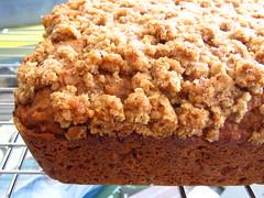 Applesauce Snack Cake with Oat-Nut Streusel
