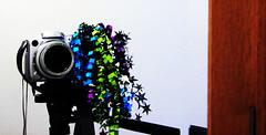 Dear My Flickr Account: Happy Birthday.  Love, Jamelah's Camera. (jamelah) Tags: camera reflection festive ribbons flickrversary whee mirrorportrait