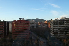 El Tibidabo desde la oficina (17:00)