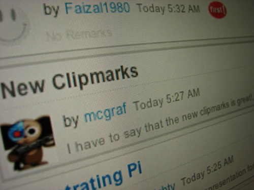 new clipmarks