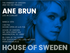 Hej Hej and the Embassy of Sweden Present Ane Brun @ House of Sweden March 13th (MelissaInWheaton) Tags: anebrun hejhej houseofsweden