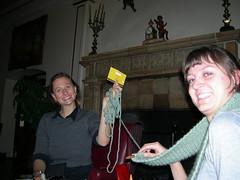 knitting, sylvie & trisha