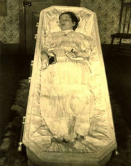 In Repose (Midnight Believer) Tags: death funeral wake coffin casket postmortem deceased retro unknown corpse dead