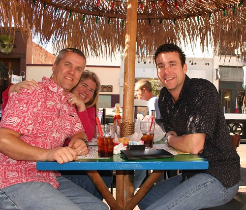 Kirk, Rob & Donna at lunch