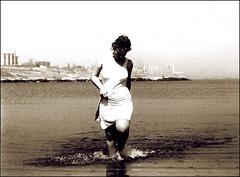 Alana (Trees n stuff) Tags: portrait blackandwhite bw film analog 35mm romania nikonfe xman floppyboot