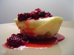 Crushed raspberry cheesecake (Alice Olive) Tags: food dessert cheesecake raspberry soupkitchen aliceolive