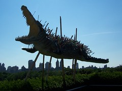 war on error (trepelu) Tags: nyc sculpture newyork art skyline spears centralpark manhattan jet alligator sharp highrise terror knives speared confiscated waronterror sharpness caiguoqiang airportsecurity