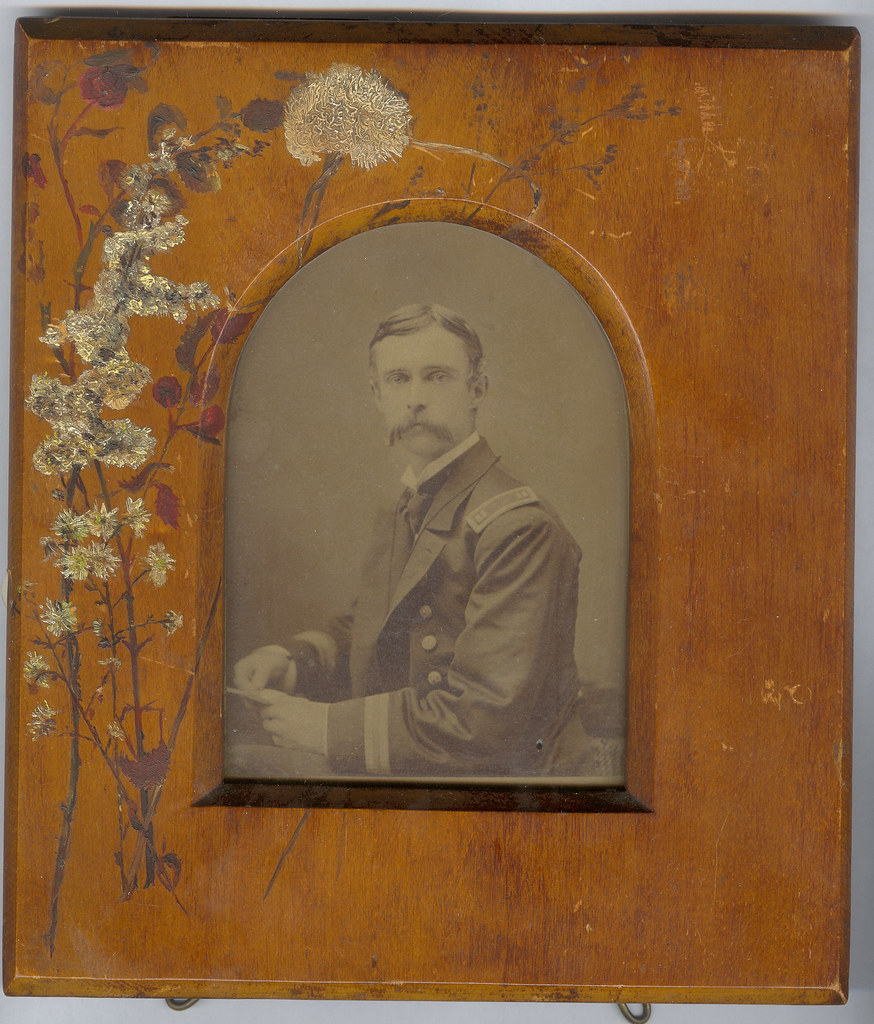 Homemade Memorial Card, Albumen Photograph, Federal Army Officer, Chicago, 1860