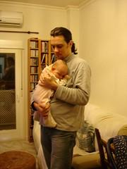 El que suscribe y su niña, Zoe.