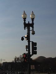 Redundant Streetlight-Mounted Surveillance Cameras at Pennsylvania Avenue, NW & Third Street, NW (Washington, DC) - by takomabibelot